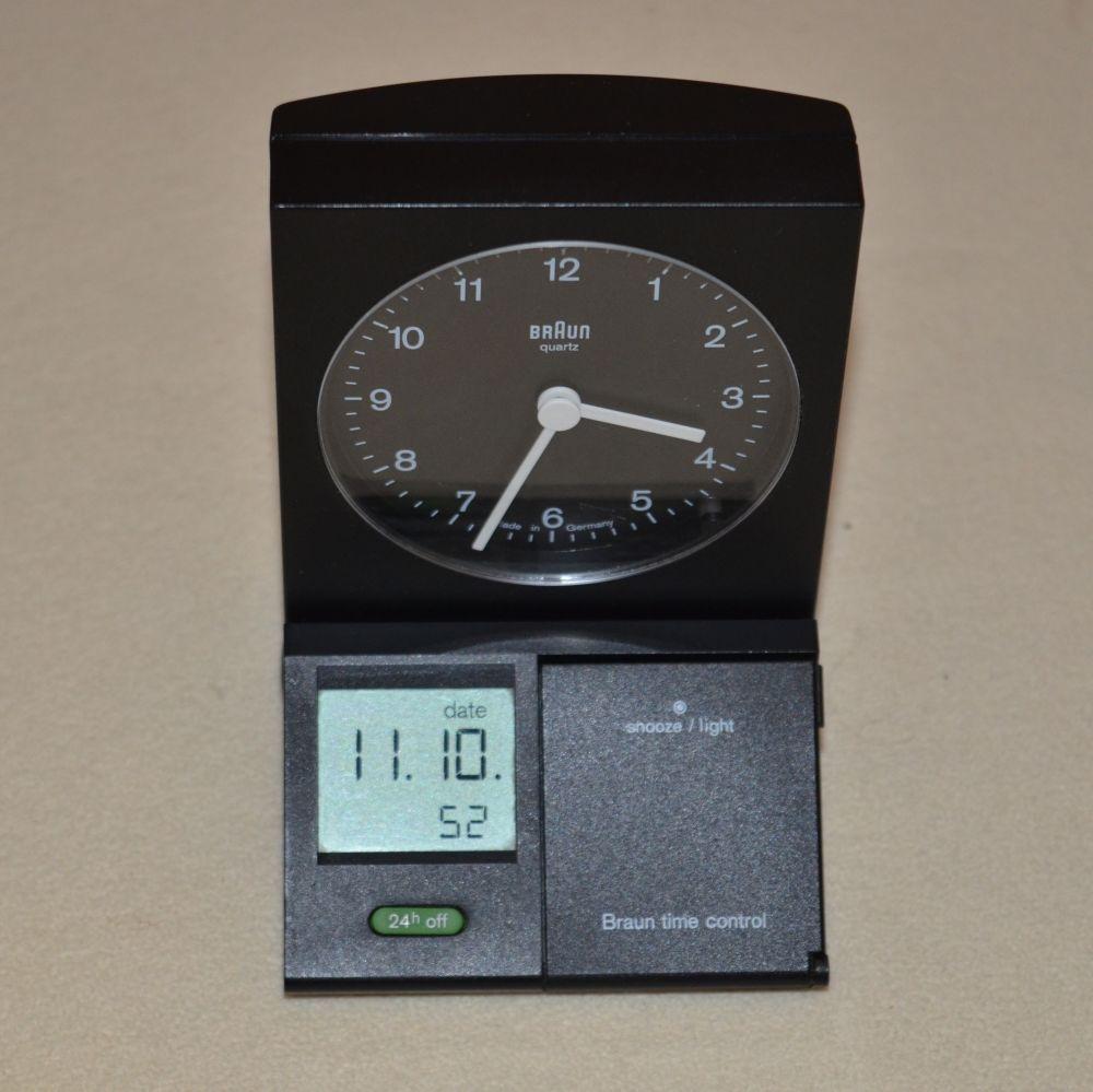 braun tischuhr wecker type 3863 dab 80 fsl time control. Black Bedroom Furniture Sets. Home Design Ideas
