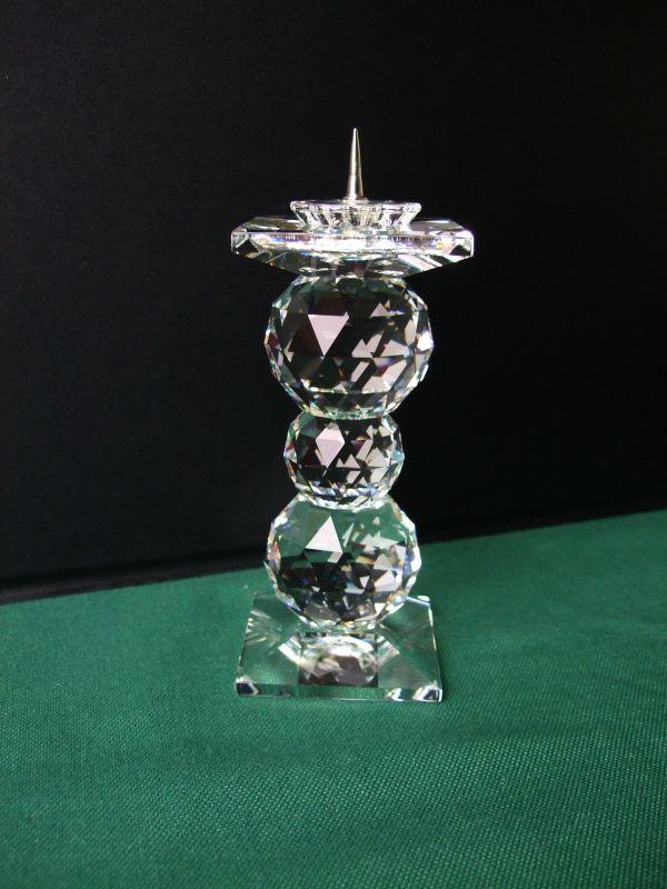 swarovski silver crystal kerzenhalter leuchter grosse ausf hrung 11 cm rar ebay. Black Bedroom Furniture Sets. Home Design Ideas